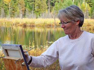 Joyce painting in Wilno